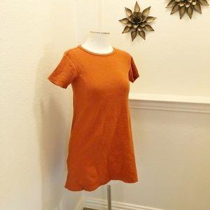 Zara Orange Textured Aline Mini Dress